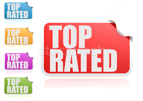Top rated label set Stock photo © tang90246