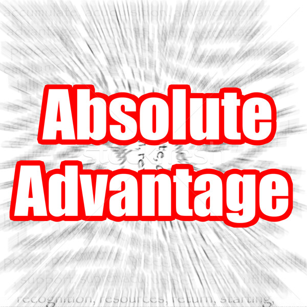 Absolute Advantage Stock photo © tang90246