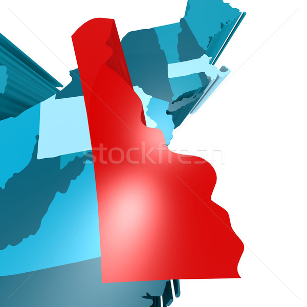 Delaware mapa azul EUA imagem prestados Foto stock © tang90246
