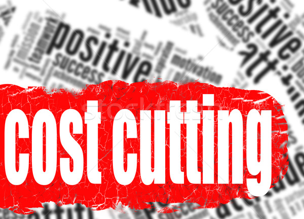 Word cloud cost cutting Stock photo © tang90246