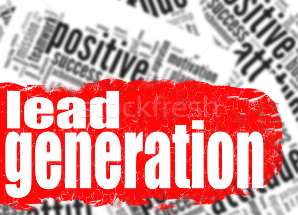 Word cloud lead generation Stock photo © tang90246
