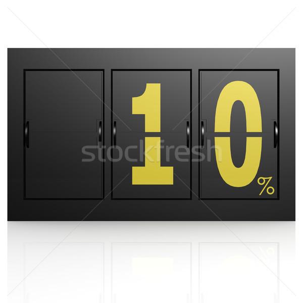 Airport display board 10 percent Stock photo © tang90246