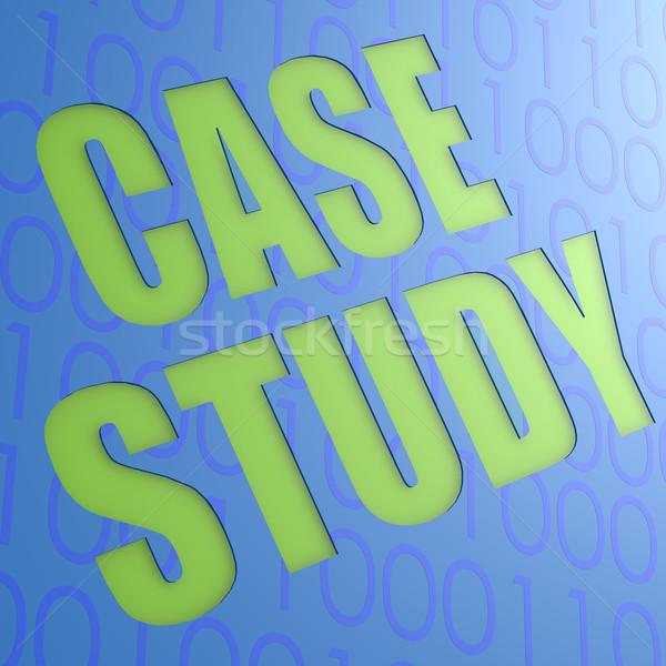 Caso estudar azul treinamento sucesso conceito Foto stock © tang90246