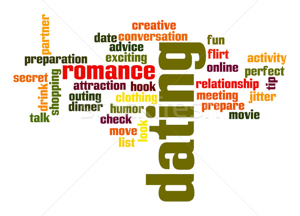 Dating word cloud Stock photo © tang90246