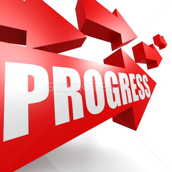 Progress arrow red Stock photo © tang90246