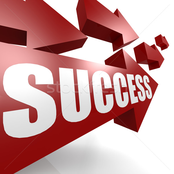 Success arrow in red Stock photo © tang90246
