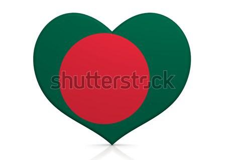 Bangladesh coração fundo viajar país conceito Foto stock © tang90246