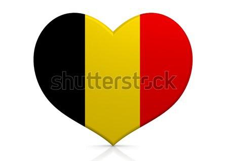 Belçika kalp arka plan seyahat ülke kavram Stok fotoğraf © tang90246