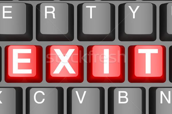 çıkmak düğme modern bilgisayar klavye görüntü render Stok fotoğraf © tang90246