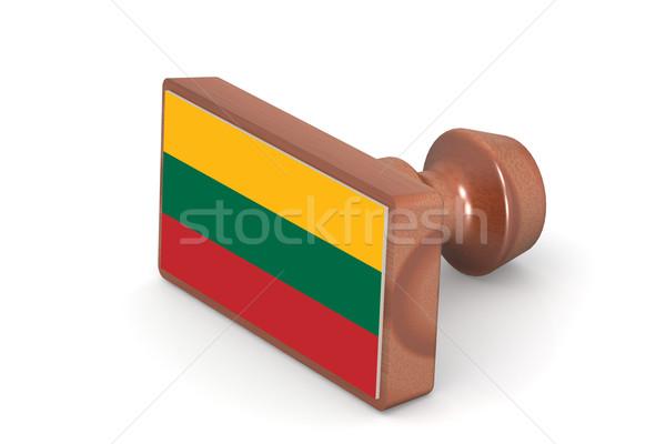 штампа Литва флаг изображение оказанный Сток-фото © tang90246