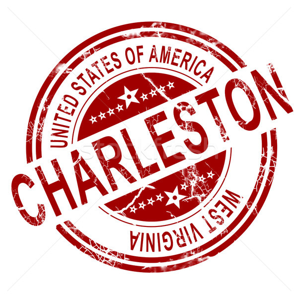 Charleston West Virginia stamp with white background Stock photo © tang90246