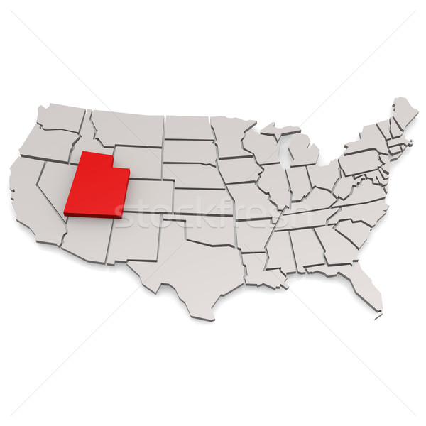 Юта карта путешествия белый США границе Сток-фото © tang90246