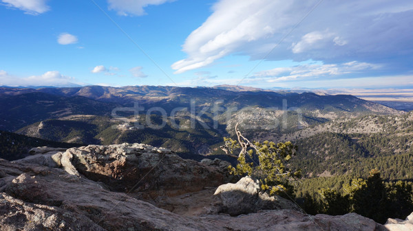 Winter view of Rocky mountain Stock photo © tang90246