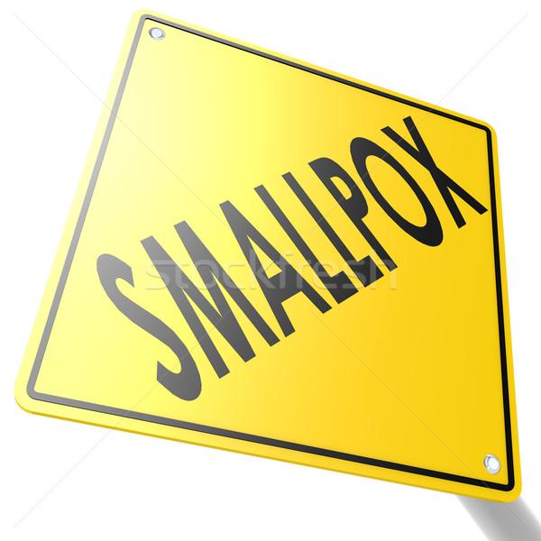 Smallpox road sign Stock photo © tang90246