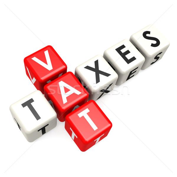 ÁFA adózás divatszó pénz eladó pénzügyi Stock fotó © tang90246