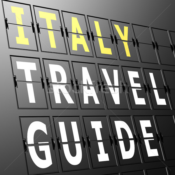 Airport display Italy travel guide Stock photo © tang90246