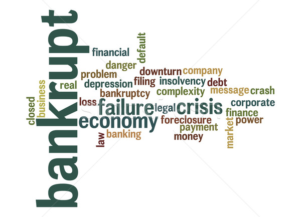 Bankrupt word cloud Stock photo © tang90246