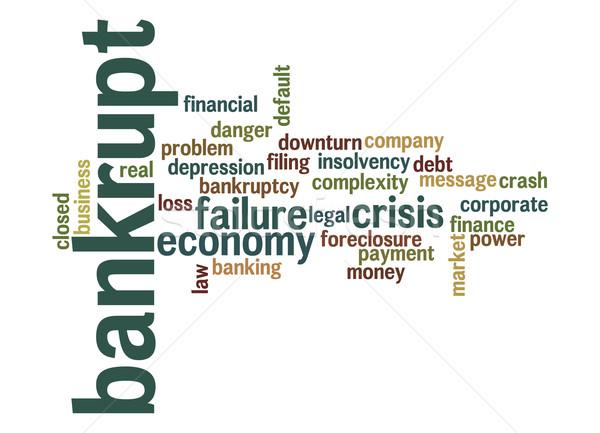 Becsődölt szófelhő papír törvény vállalati pénzügyi Stock fotó © tang90246