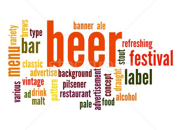 Beer word cloud Stock photo © tang90246