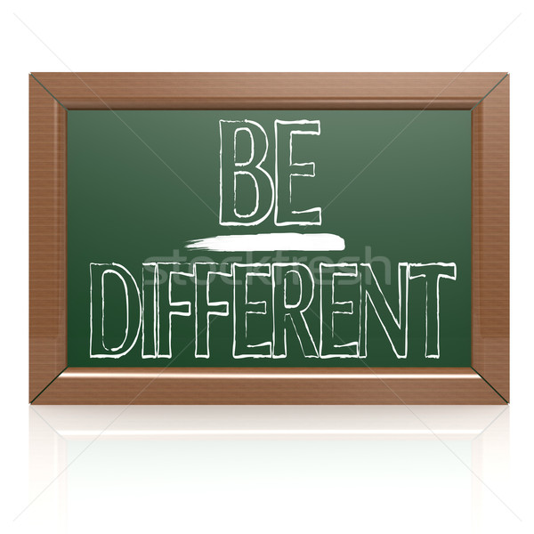 Be Different written with chalk on blackboard Stock photo © tang90246