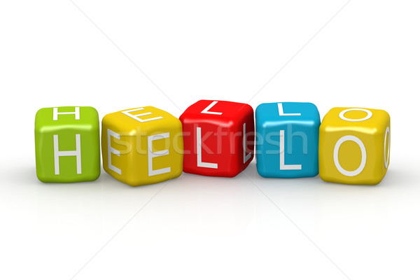 Hello colorful buzzword Stock photo © tang90246