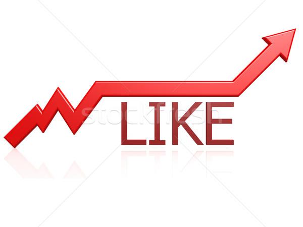 Like graph Stock photo © tang90246