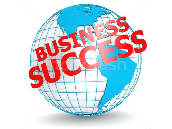 ビジネス 成功 世界中 地図 世界 背景 ストックフォト © tang90246