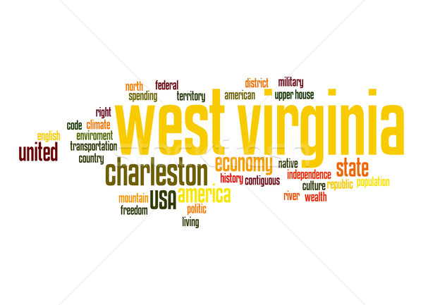 Virginia nube de palabras nube libertad historia gráfico Foto stock © tang90246