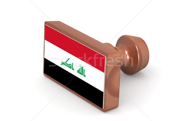 Carimbo Iraque bandeira imagem prestados Foto stock © tang90246
