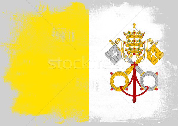 Flag of Vatican City painted with brush Stock photo © tang90246