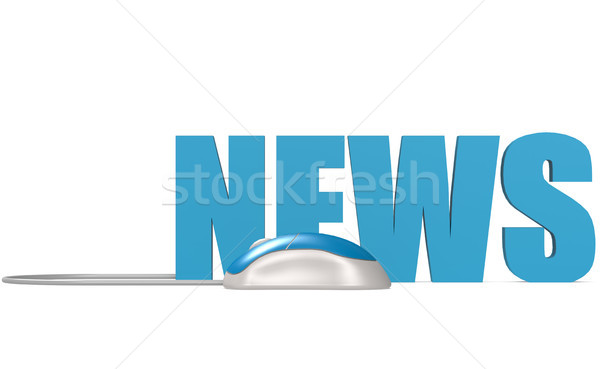 Computer mouse with news word Stock photo © tang90246