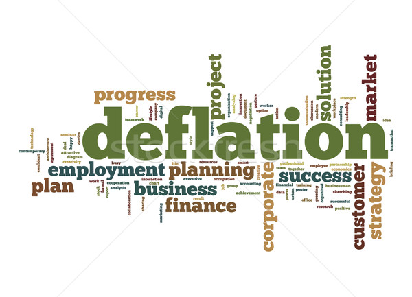 Deflation word cloud Stock photo © tang90246