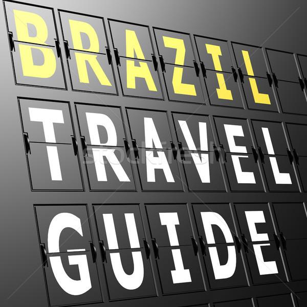 Lotniska Widok Brazylia podróży przewodnik podpisania Zdjęcia stock © tang90246