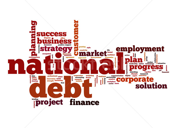 Debito word cloud business nube stock tag Foto d'archivio © tang90246