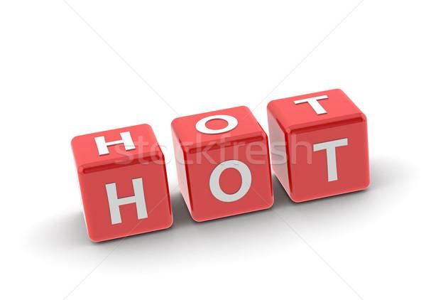 Сток-фото: горячей · головоломки · слово · изображение · оказанный