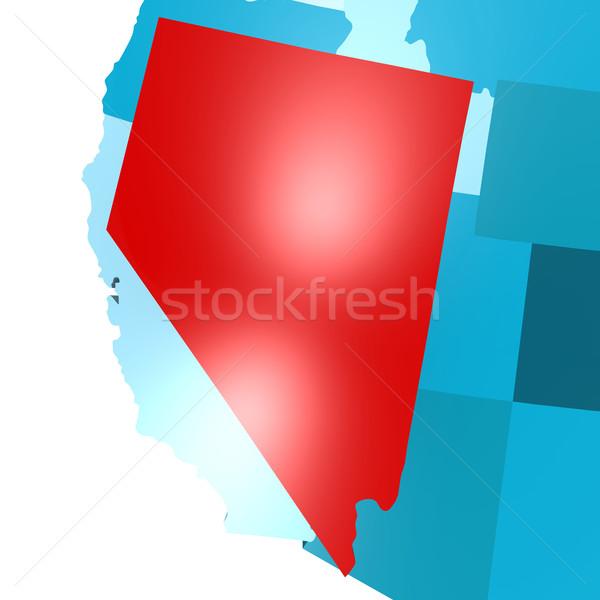 Nevada harita mavi ABD görüntü render Stok fotoğraf © tang90246