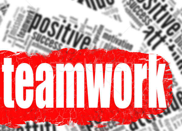 Word cloud teamwork business sucess concept Stock photo © tang90246