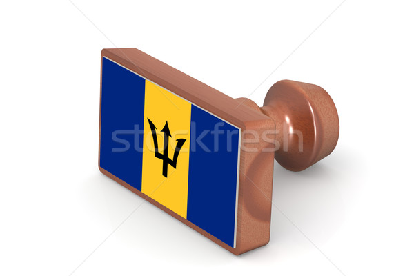Carimbo Barbados bandeira imagem prestados Foto stock © tang90246