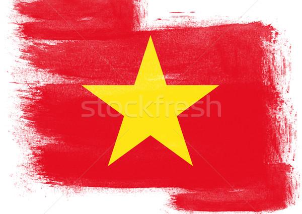 Pavillon Viêt-Nam peint brosse solide résumé Photo stock © tang90246