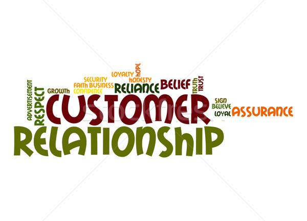 Customer relationship word cloud Stock photo © tang90246