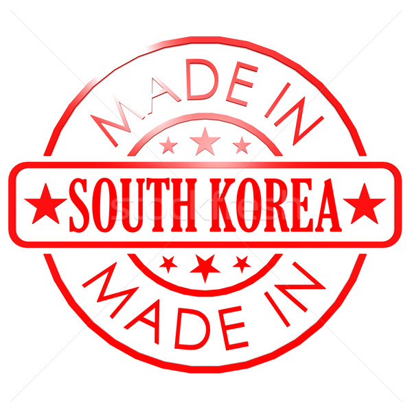 Made in South Korea red seal Stock photo © tang90246