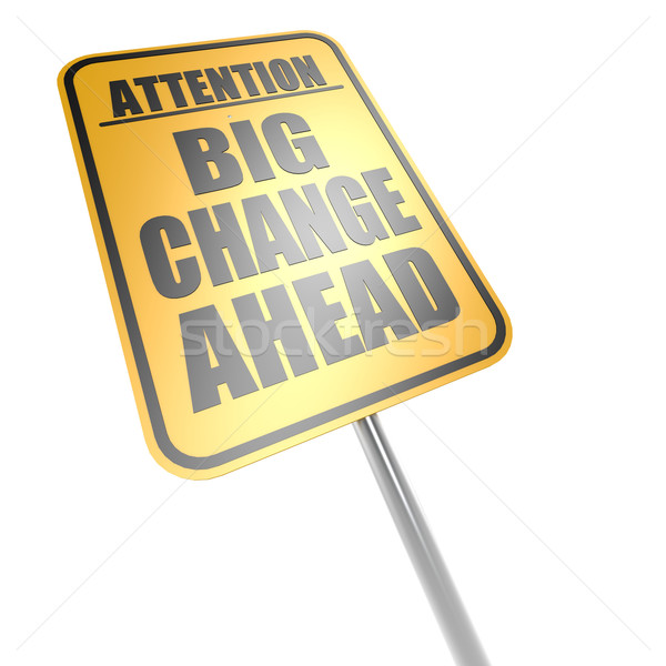 Big change ahead road sign Stock photo © tang90246
