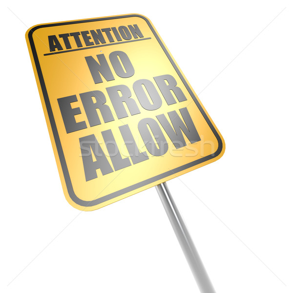 No error allow road sign Stock photo © tang90246