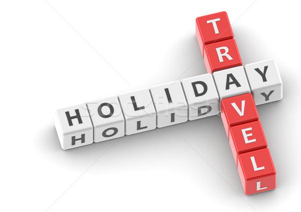 Buzzwords holiday travel Stock photo © tang90246