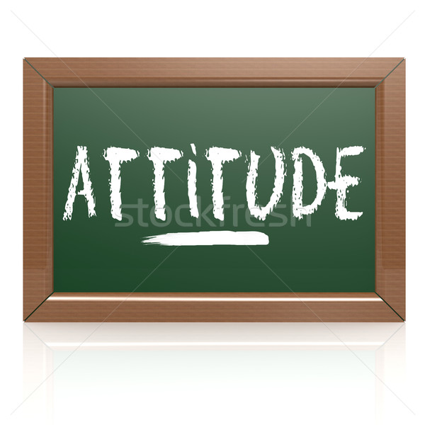 Attitude word written on chalk board Stock photo © tang90246