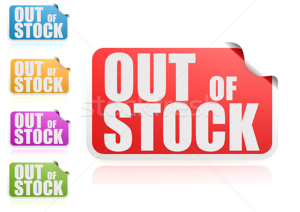 Out of stock label set Stock photo © tang90246