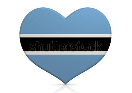 Botswana corazón fondo viaje país concepto Foto stock © tang90246