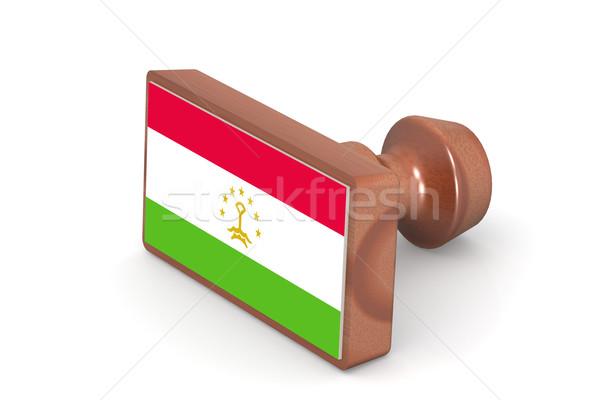 Carimbo Tajiquistão bandeira imagem prestados Foto stock © tang90246