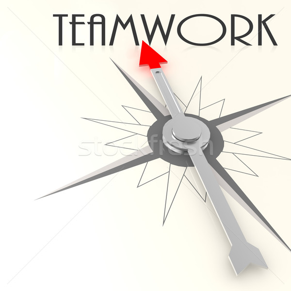 Compass with teamwork word Stock photo © tang90246