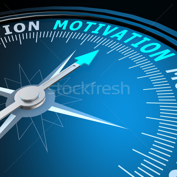 Motivatie woord kompas business toekomst concept Stockfoto © tang90246